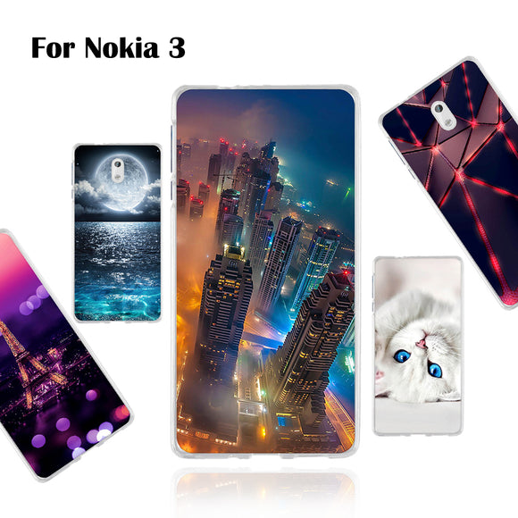 Phone Case For Nokia 3 5.0 inch Protection Back Cover For Nokia 3 Soft Silicon Cases Thin Painted Pattern Cover Colorful Shells