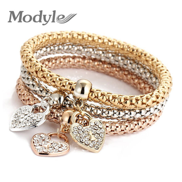 Modyle 2018 Wedding Gold Color Bracelets & Bangles Bracelet for Women Metal Chain Bracelet Fashion Jewelry