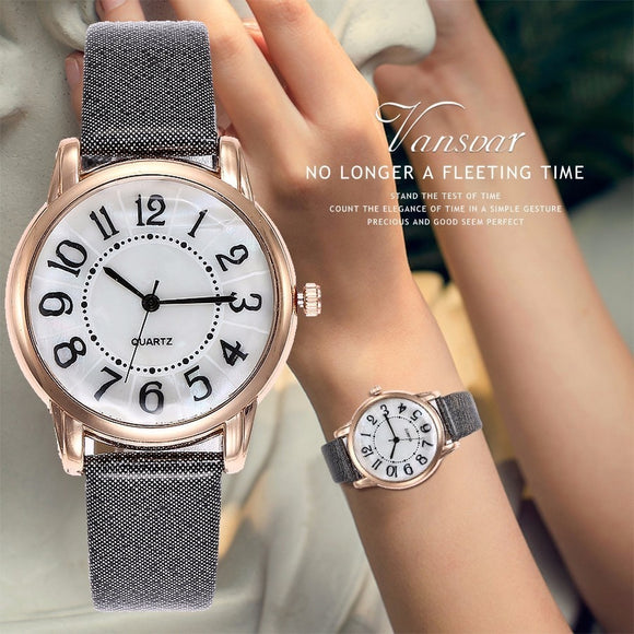 Women Simple Dial Wristwatches Casual Fashion Luxury Leather Strap Quartz Watches Clock Relogio Feminino