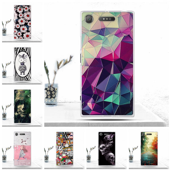 Phone Case For Sony Xperia XZ1 Cover Soft TPU Silicon Back Cover for Sony Xperia XZ1 Case Phone Covers for Sony XZ1 Fundas Coque