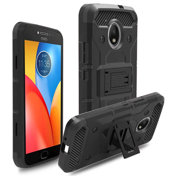 Heavy Duty Hybrid Tank Rugged Case With Belt Clip Shockproof Holster Cover For Motorola Moto E4 Plus XT1770 XT1771 XT1773 XT1775