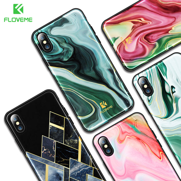FLOVEME Case For iPhone 7 10 X Ultra Thin Silicone Edge Case For iPhone X 10 Case Back Cover For Apple iPhone 7 Plus 8 Plus Case