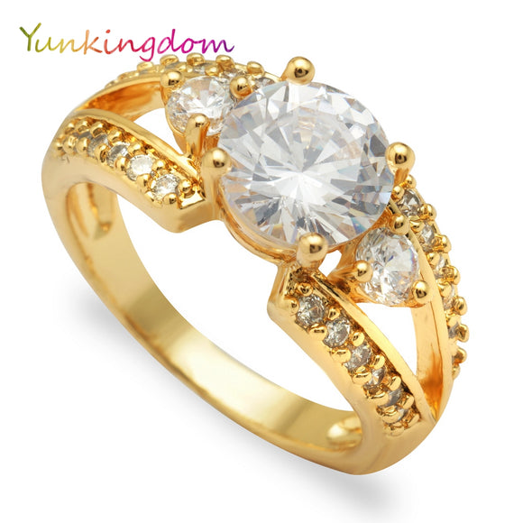 Yunkingdom Engagement crystal rings jewelry female costume accessories zircon ring
