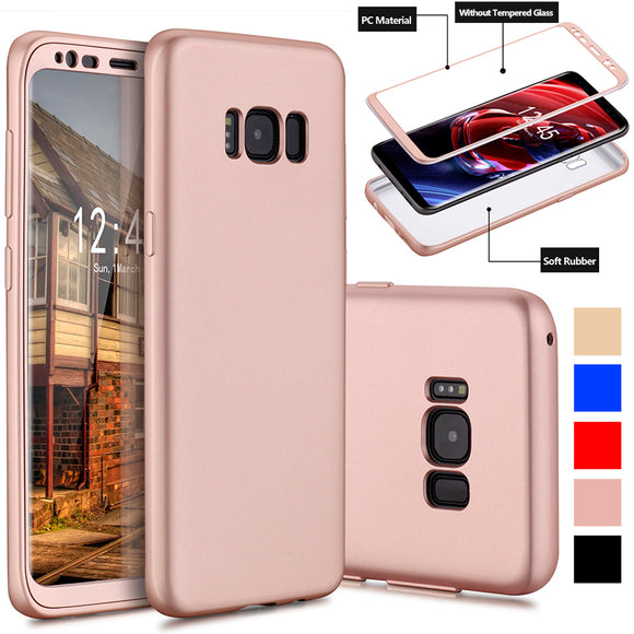 Luxury 360 degree FullCover Soft TPU Scratch Resistant Case For Samsung Galaxy S8 / S8 Plus