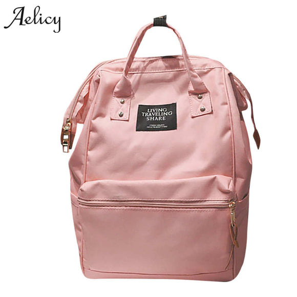 Aelicy Brand Teenage Backpacks for Girl Travel Bag Women Large Capacity School Bags For Girls Black Women Backpack Mochila