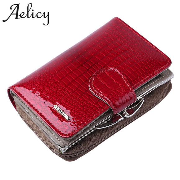 Aelicy Womens Wallets Brand Purses Female Long European and American Style Genuine Leather Wallet ladies wallet high capacity
