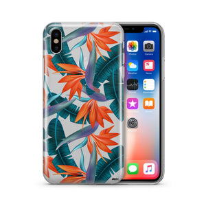 Strelitzia - Clear TPU iPhone Case / Samsung Case Phone Cover