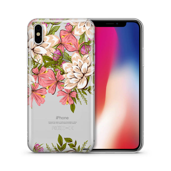 Angela Floral - Clear TPU iPhone Case / Samsung Case Phone Cover