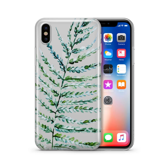 Fern - Clear TPU iPhone Case / Samsung Case Phone Cover