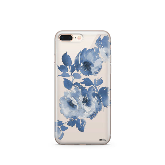 Blue Crush - Clear TPU iPhone Case / Samsung Case Phone Cover
