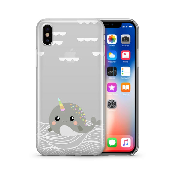 Narwhal - Clear TPU iPhone Case / Samsung Case Phone Cover