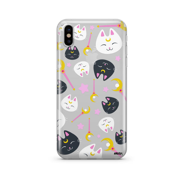 Sailor Kitty - Clear TPU iPhone Case / Samsung Case Phone Cover