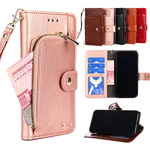 Flip Wallet Leather Case for Samsung Galaxy A5 A7 A8 2015 2016 2017 2018 A 6 A6 plus A8+ 2018 with Stand and Card Holder Cover