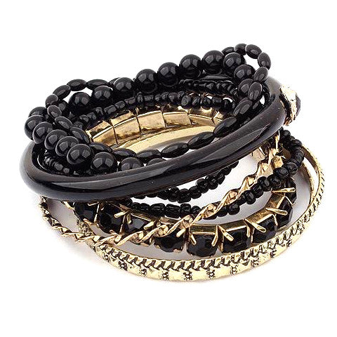 Multi-Layer Beads & Bangles Bracelet