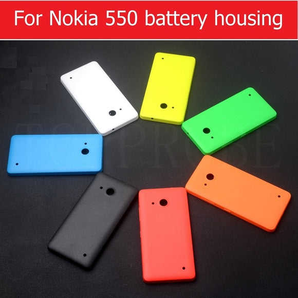 Best quality Rear battery door housing for Microsoft lumia 550 back cover For nokia 550 rear cover back case + 1pcs screen film