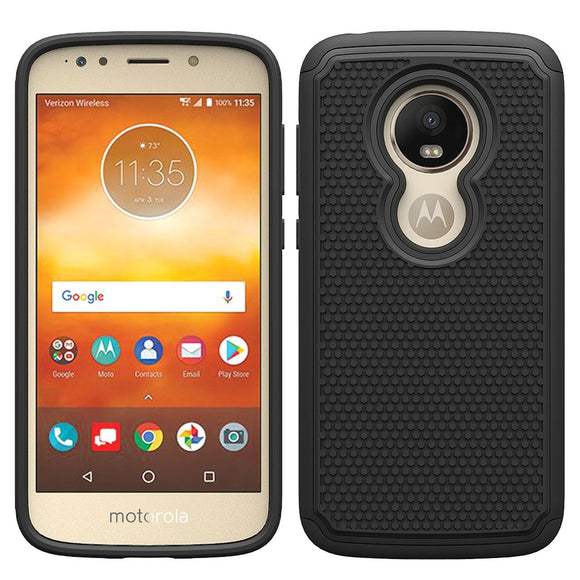 For Motorola Moto E5 Play /Moto E5 Cruise Case Dual Layer Hybrid Armor Case Anti Slip Shockproof Soft Silicone & Hard Back Cover