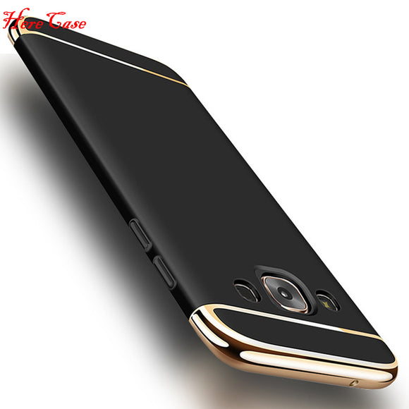 For Samsung Galaxy J7 2015 Case J700 Luxury 3 in 1 Case Gold Plating Case Cover For Samsung J7 2016 J710 J710F Back Cover Coque