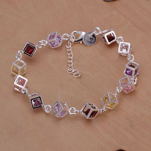 Free shipping jewelry silver plated jewelry bracelet fine fashion bracelet top quality wholesale and retail SMTH220