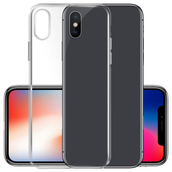 Clear TPU Phone Cases For iPhone X 8 7 6 6s Plus Silicone Protective Sleeve Cover For Iphone 4 4S 5 5S SE Transparent Soft Case