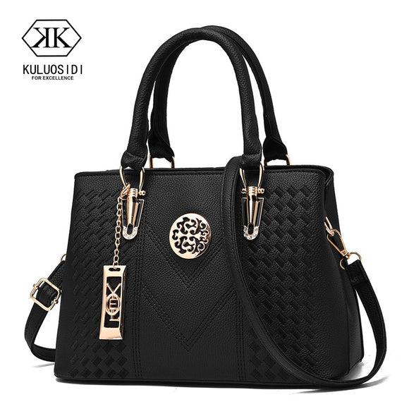 3a9fbd7ac9 Embroidery Messenger Bags Women Leather Handbags Bags for Women 2018 Sac a  Main Ladies Hand Bag
