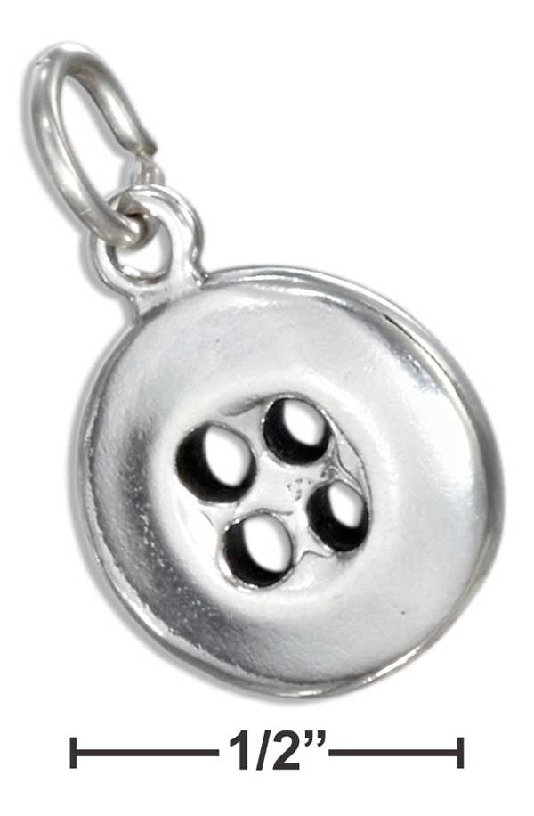 Sterling Silver Button Charm