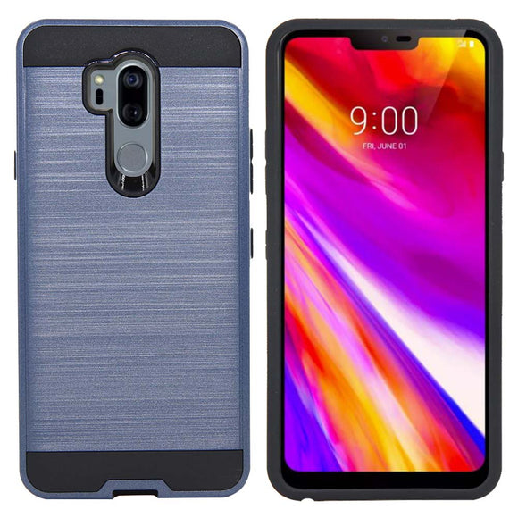 For LG G7 ThinQ / G7+ G710EM Case Dual Layer Hybrid Brushed Armor Case Shockproof Anti Scratch Soft TPU & Hard PC Back Cover
