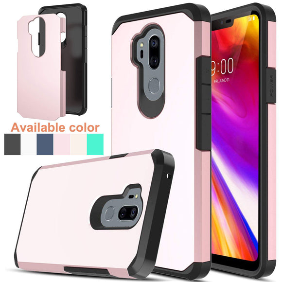 For LG G7 ThinQ / G7+ G710EM G710PM G710VMP Case Dual Layer Hybrid Armor Case Slim Soft TPU Rubber Hard PC Back Anti Shock Cover