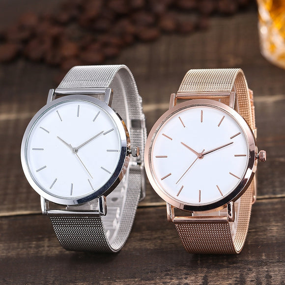 Vansvar Women's Watches Round Dail Luxury Silver Clock Reloj Classic Casual Alloy Fashion Casual Quartz Wristwatch luxury #30
