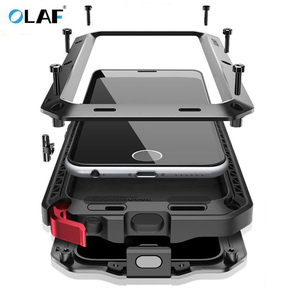 Olaf Metal Case Heavy Duty Case 360 Full Cover For Samsung Galaxy S4 S5 S6 S6 S7 edge S9 S8 Plus Note 8 5 4 Shockproof Cover