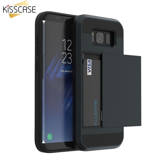 KISSCASE Case For Samsung Galaxy A3 A5 A7 J3 J5 J7 2016 2017 Card Slot Phone Case For Samsung S8 S9 Plus S5 S6 S7 Note 9 8 Cover