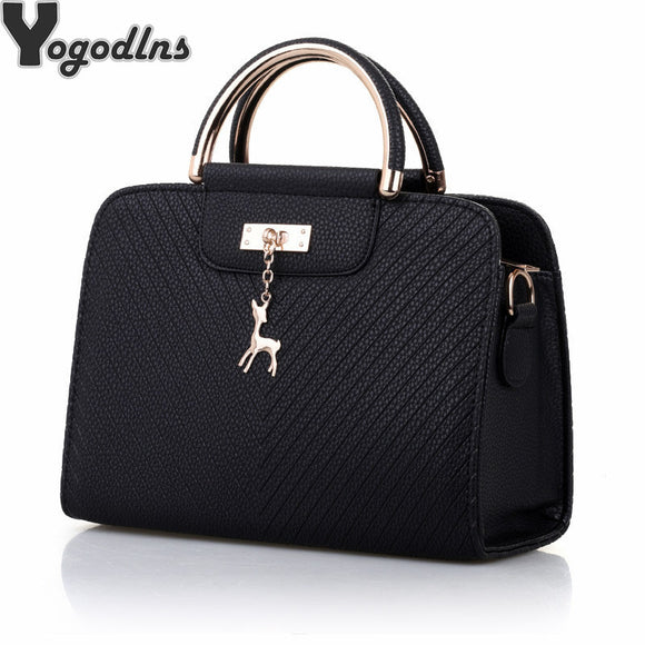 b0654390a910 Fashion Handbag 2018 New Women Leather Bag Large Capacity Shoulder Bags  Casual Tote Simple Top-