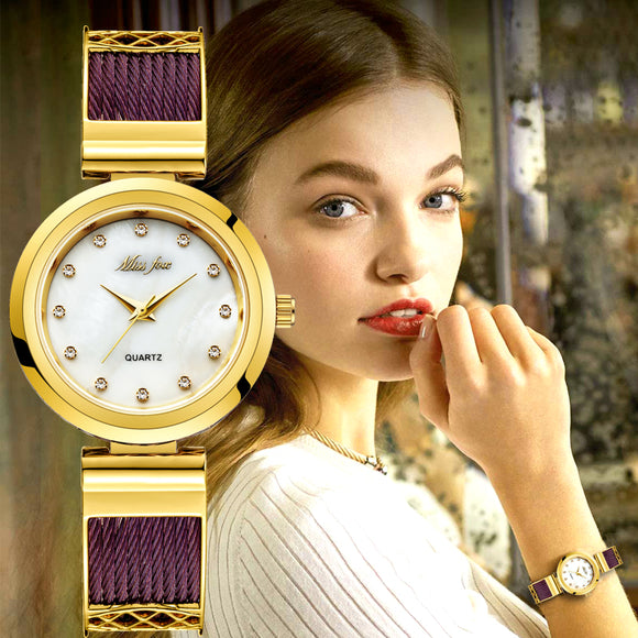 Casual Dress Wrist Watches For Women Brands Geneva Ladies Watches Women's Stainless Steel Bracelet Fashion Uhr Female Gold Watch