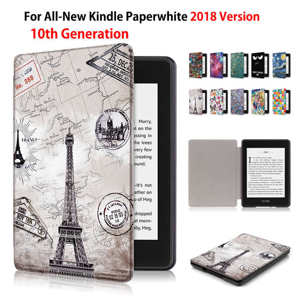 Fashion Painted Case For Amazon All-New Kindle Paperwhite 2018 released Smart Cover for Kindle Paperwhite 6