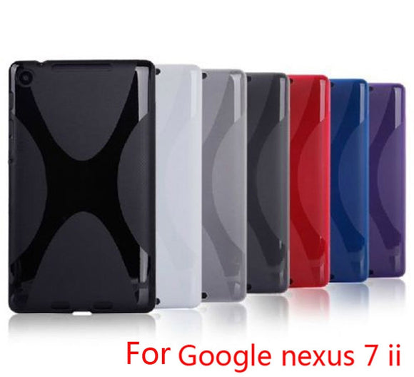 High quality X Line TPU Case Cover Skin Soft Gel for Google Nexus 7 II 2 2013 2nd 2 Generation Free Shipping