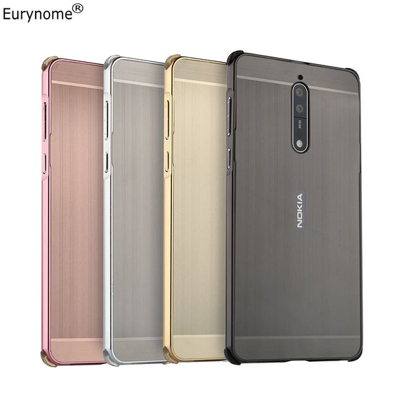 Case for Nokia 8 Case Original Shockproof Metal Aluminum Frame Ultra Thin PC Cover for Nokia 8 6 Case For Nokia 7 6 Screen Film