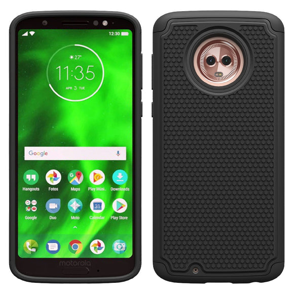 For Motorola Moto G6 Case Dual Layer Hybrid Armor Case Anti Scratch Drop Protective TPU & Hard Back Cover For Motorola Moto G6