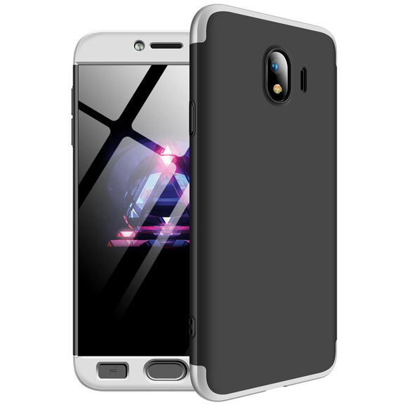 3 In 1 Full Body Protect Anti Drop Armor Case + Tempered Glass Screen Protector Back Cover For Samsung Galaxy J4 2018 J400F J400
