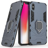 2 In 1 Soft TPU & Hard PC Back Magnetic Ring Armor Case For iPhone X / XS Shockproof Kickstand Cover For Apple iPhone X Xs 5.8""