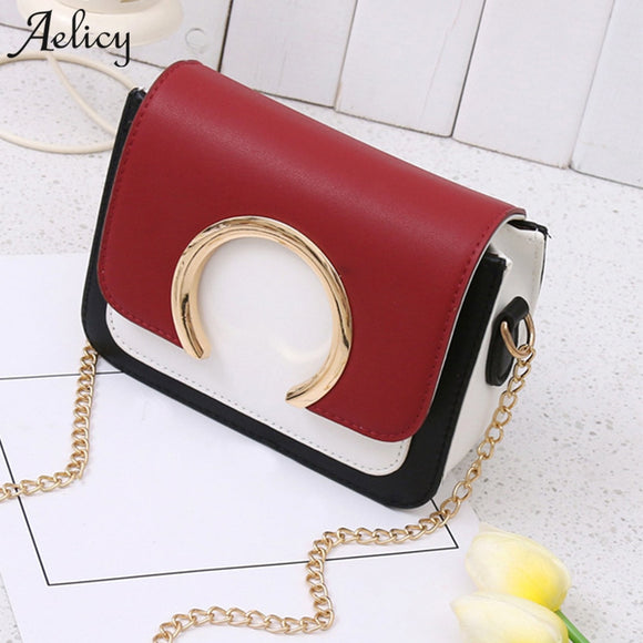 Aelicy women's fashion ring decoration patchwork crossbody shoulder bags 2019 new design ladies women's purses and hand bags