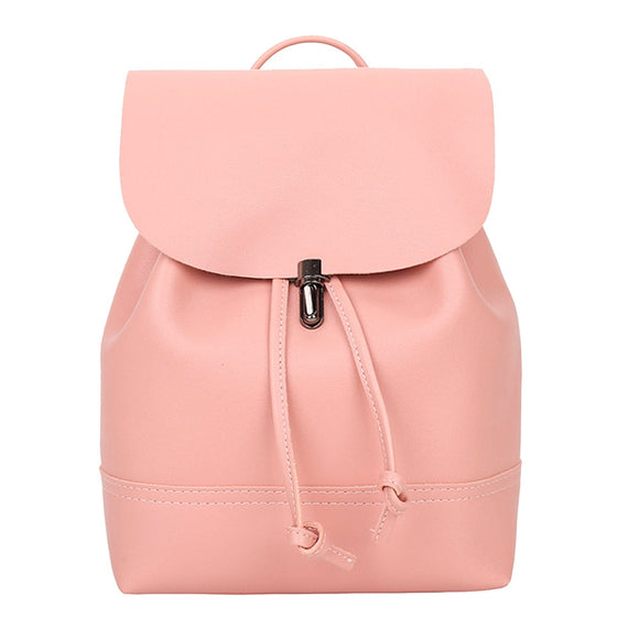 Fashion Women backpack 2019 Vintage Pure Color Leather School Bag Backpack Satchel backpack women Shoulder Bag bolsa #YL5