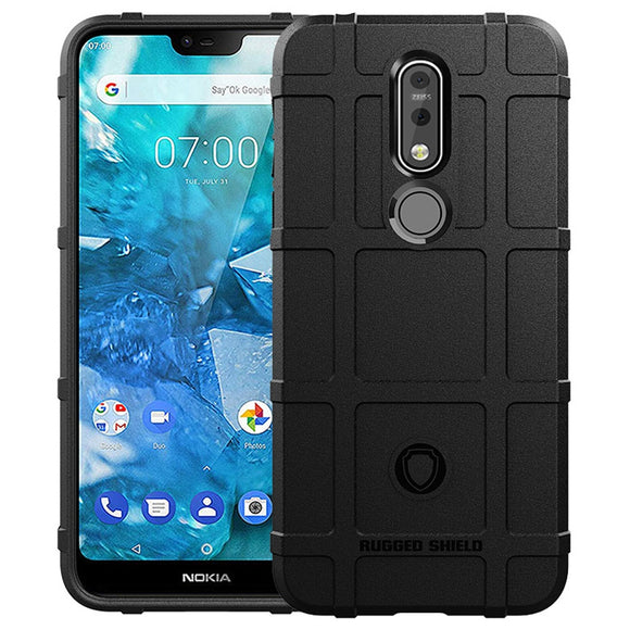 For Nokia 7.1 Case Matte Hybrid Armor Case Anti Scratch Hard Rubber Shockproof Impact Protective Phone Back Cover For Nokia 7.1