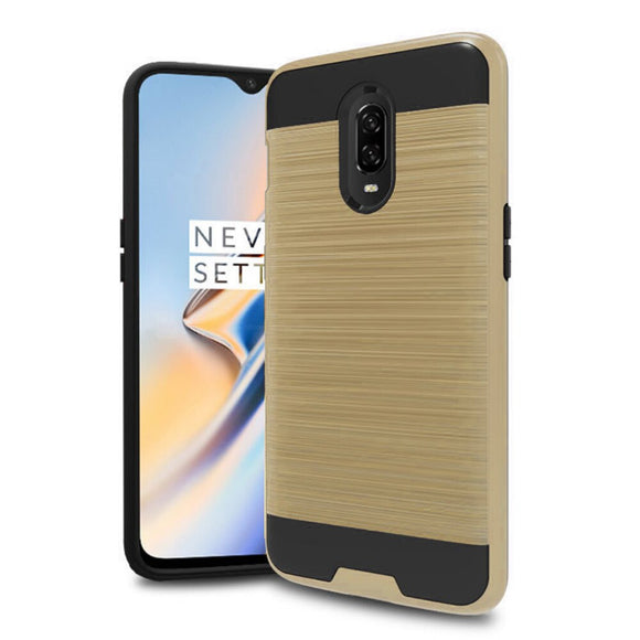 For Oneplus 6T Case 2 In 1 Hybrid Brushed Armor Case Anti Drop Impact Protective Soft TPU & Hard PC Back Cover For Oneplus 6T 6t