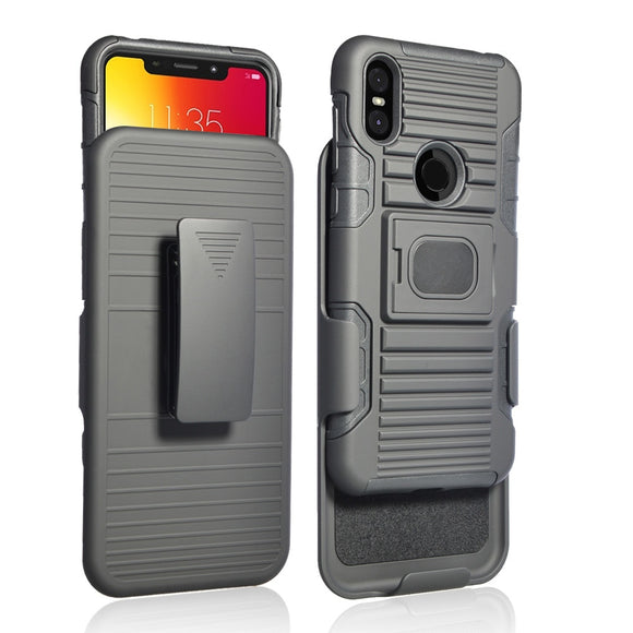 Magnetic Ring Stand Heavy Duty Rugged Case For Motorola Moto One Shockproof Belt Clip Holster Cover For Motorola One / P30 Play