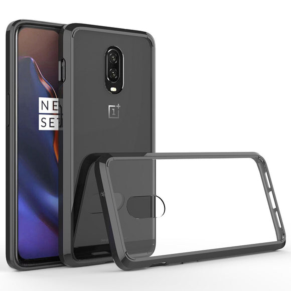 For Oneplus 6T Slim Fit Soft TPU Edge & Hard Acrylic Back Transparent Clear Case Shockproof Anti Scratch Cover For Oneplus 6T