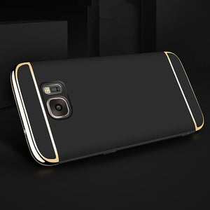 2018 NEW Luxury Thin Electroplate covers Shockproof Case Cover for Samsung Galaxy S7 Edge Hard Mobile phone cases #YL10