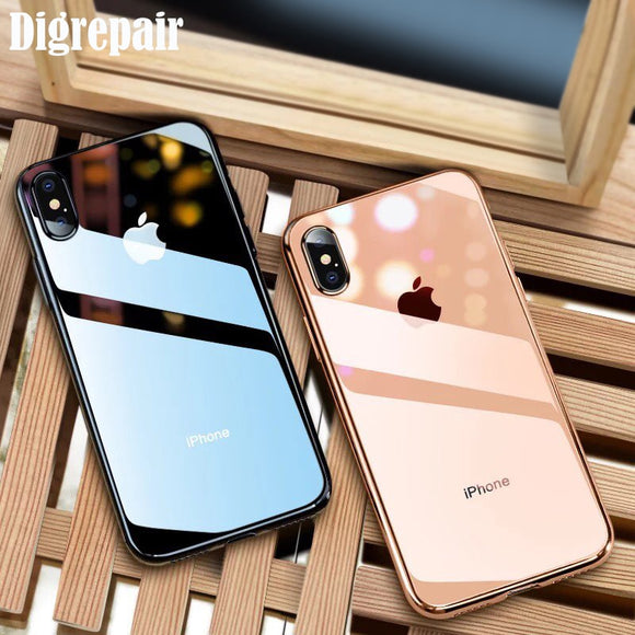Ultra Thin Soft Transparent TPU Phone Case For iPhone 7 8 Plus 6 6s plus Silicone Full Cover Cases For iphone X XS MAX XR Case
