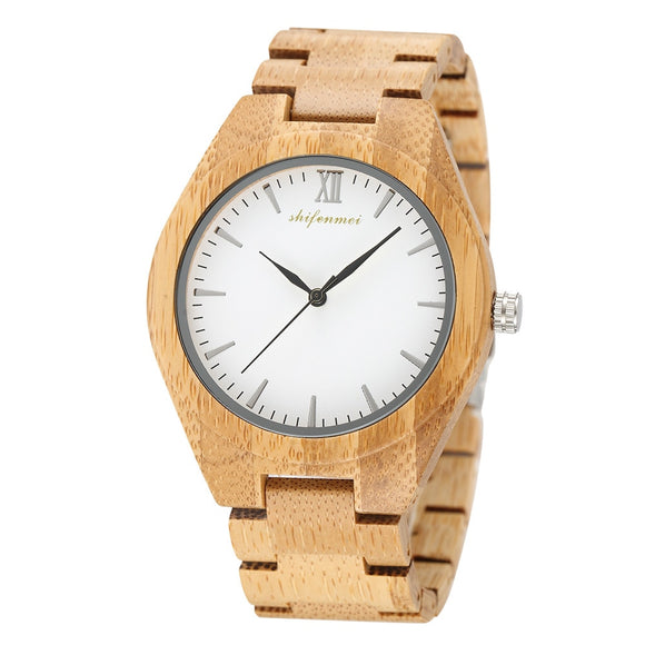 Men Wood Watch Women's Quartz Movement Wooden Watch Band Quartz Lovers Wris Watch Luxury Wooden Couples Clock for Male Relogio
