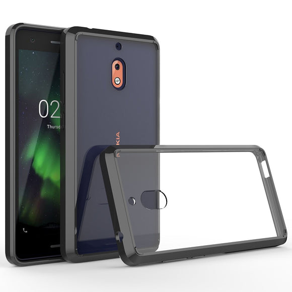 Ultra Thin Transparent Clear Case For Nokia 2.1 2v Anti Shock Protective Soft TPU Edge Hard Back Cover For Nokia 2V 2.1 (2018)