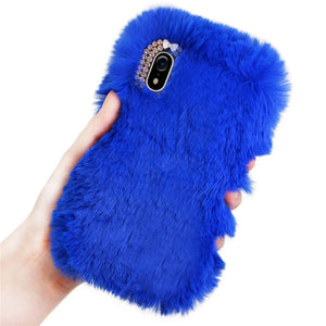 USPS For iPhone XR 6.1inch Warm Fluffy Villi Plush Wool Bling Case Cover Skin 2019 NEW drop shipping