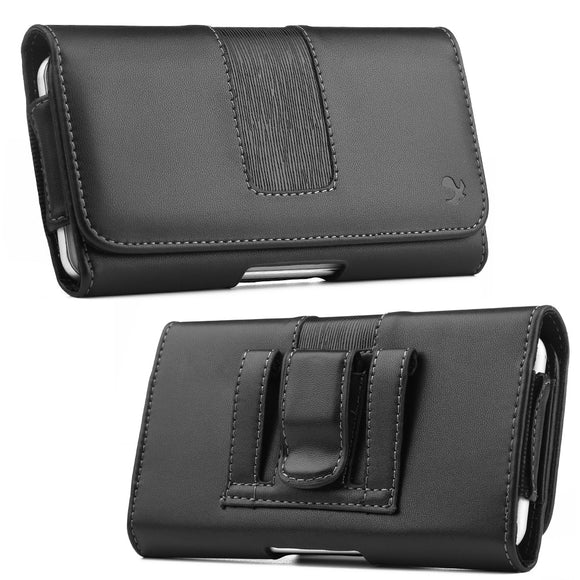 Universal phone pouch Cover Belt Clip Holster Leather Phone Case For iphone samsung xiaomi huawei zte mobile phone waist bag